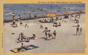 Massachusetts Cape Cod One Of The Many Bathing Beaches 1954