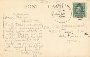 Jarvis Missouri~Jarvis Creek Park~Rock Bridge~Lily Pads~1917 Postcard
