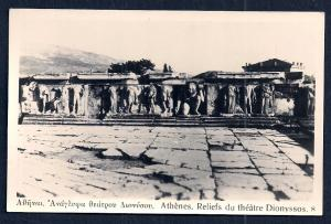 Relief Statuary Athens Greece Real Photo unused c1920's