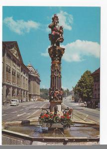 Switzerland Berne Ogre Fountain Kindifresserbrunnen Vintage Postcard 4X6