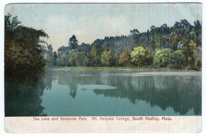 South Hadley, Mass, The Lake and Goodnow Park, Mt. Holyoke College