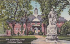 Virginia Williamsburg Wren Building Of The College Of William and Mary 1947 C...