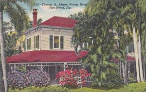 Florida Fort Myers Thomas A Edison Winter Home