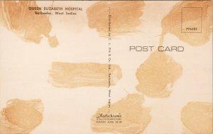 Barbados Queen Elizabeth Hospital Vintage Postcard F52