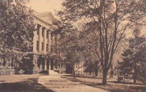 North Carolina Greensboro Mclver Hall North Carolina College For Women Albertype