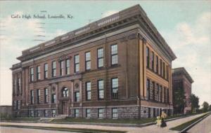 Kentucky Louisville Girl's High School 1909 Curteich