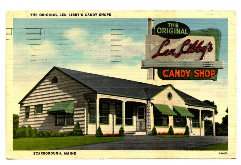 ME - Scarborough. Original Len Libby's Candy Shops