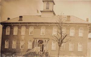 D23/ New Straitsville Ohio Postcard Real Photo RPPC c1910 Public School Building