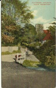 The Brighton Palace Series Poynings Church Near Brighton -Early 1920's Vintage