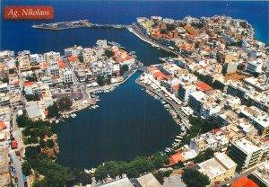 Postkarte Greece Crete Ag Nikolaos bird's eye view