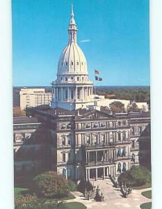 Unused Pre-1980 STATE CAPITOL BUILDING Lansing Michigan MI G0752