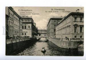 169823 Russia PETERSBURG Hermitage & Winter Canal Vintage PC