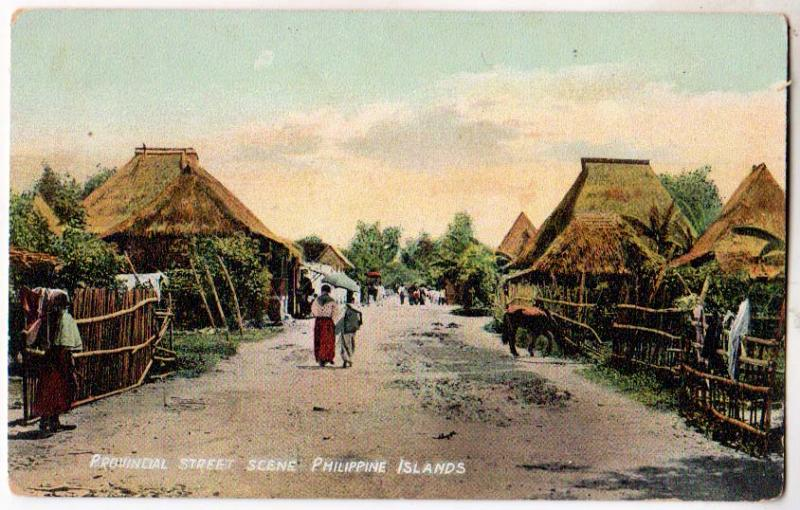 Provincial St. Scene Philippine Islands