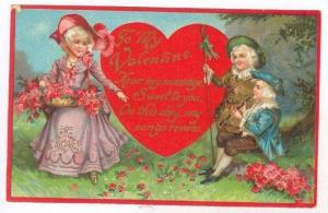 Valentine Greetings: Singing A Song To The Lady, 1900-10s