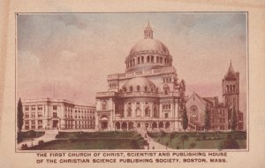 The First Church of Christ , Christian Science Publishing Society , BOSTON , ...