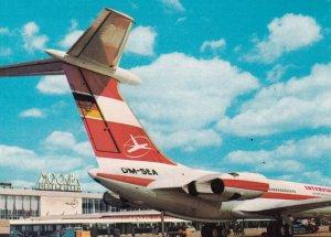 INTERFLUG IL 62 Airplane , MOSCOW , Russia , 1960-70s