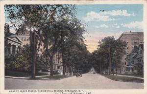 View on James Street, Residential Section, Syracuse, New York, PU-1918
