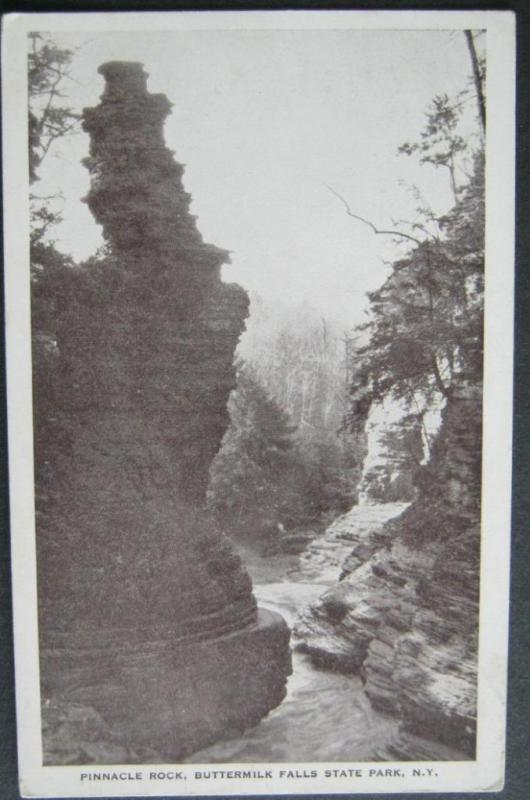 Pinnacle Rock Buttermilk Falls State Pk NY (Ithaca) Santway Photo-Craft