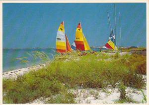 Sailboats on Pensacola Beach Florida