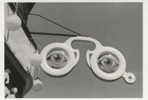 Eyes In The Sky Paris French 1930s Floating Spectacles Glasses Postcard