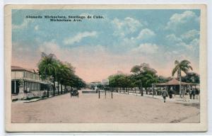 Alameda Michaelsen Santiago de Cuba postcard