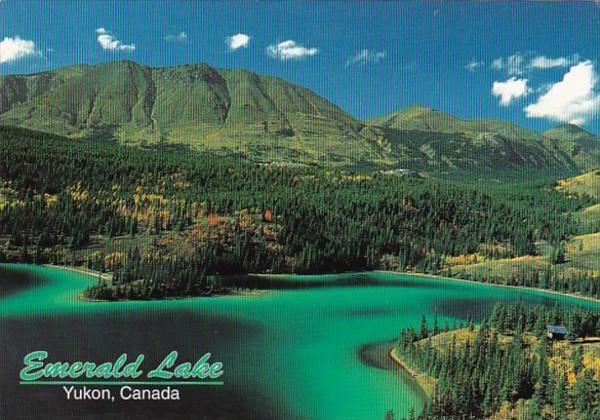 Canada Yukon Emerald Lake Panorama