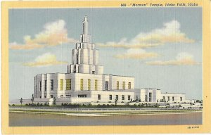 The LDS Mormon Temple Completed in 1944 Idaho Falls Idaho