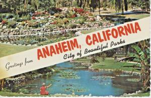 Greetings From Anaheim California CA La Palma City Parks Vintage Postcard D24