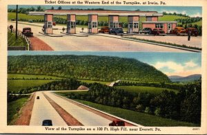 Pennsylvania Turnpike View Near Everett and Ticket Offices At Western End Nea...