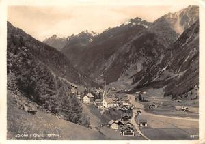 Oesterreich Tirol Soelden i. Oetztal 1377 m Gebirge, Mountains panorama 1961