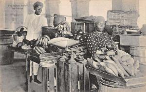 Barbados Natives Vegetable Seller Merchant Store Antique Postcard K58882
