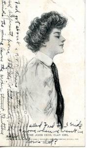 The John Cecil Clay Girl       Artist Signed: Grace Wiederseim  (American Gir...