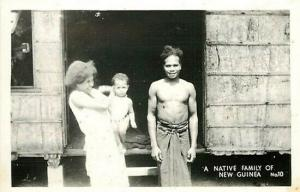 New Guinea, Native Family, No. 10, RPPC
