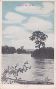 Down by the River Vertical Scene Postmarked at Fulda MN Minnesota - pm 1919 - WB