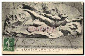 Old Postcard Lyon Bas relief Palais de la Bourse by Verniare