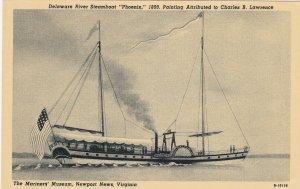 NEWPORT NEWS, Virginia, 1900-10s; Delaware River Steamboat Phoenix, Museum
