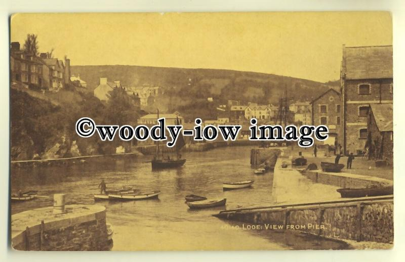 tp0223 - Cornwall - Looking along the River from the Pier, in Looe - Postcard