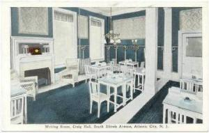 Writing Room, Craig Hall, South Illinois Avenue, Atlantic City, New Jersey, 1...