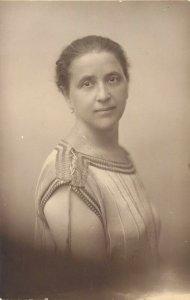 Woman portrait early photo postcard