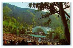 Postcard The Hollywood Bowl, CA natural amphitheater B55