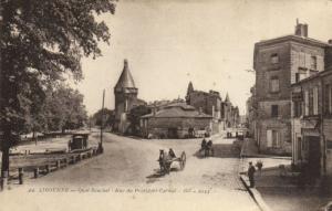 CPA LIBOURNE - Quai Souchet - Rue du Président-Carnot (140121)
