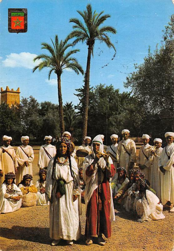 Morocco Typical Groupes Fokloriques Folk-loric Groups Grupos Folkloricos