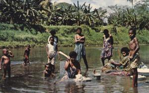 FIJI, 1940-1960´s; Washing Day, Mountain River