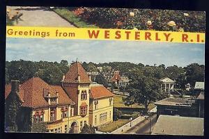 Westerly, Rhode Island/RI Postcard, Historic Library, Near