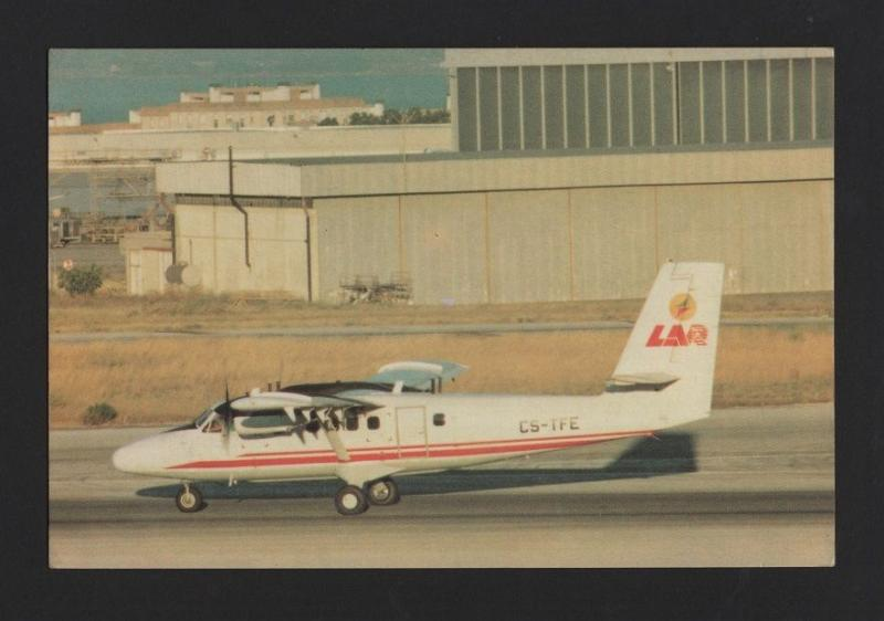POSTCARD limited issue AIRPLANE AIRCRAFT DHC-6 TWIN OTTER  LAR PORTUGAL avion z1