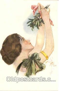 Artist Harrison Fisher (USA) Finnish KK 20-1-S Mistletoe 1925