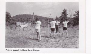 RP, Boys, Archery Appeals To Notre Dame Campers, New York, 1930-1950s