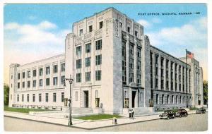 Exterior, Post Office, Wichita, Kansas,   30-40s
