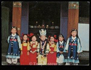 Children's Festival : Korean children in traditional costume.