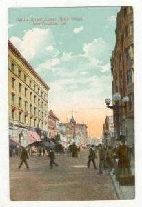 Corner,Spring Street & Third Street,Los Angeles,CA,1910